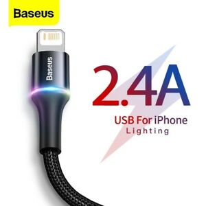 Baseus – câble USB LED, recharge rapide, iPhone 12 11 Pro XS Max Xr X 8 7 6