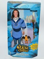 1997 Quest for Camelot Black Knight Garrett & Silver Winged Falcon Figure