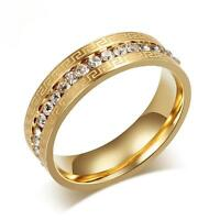 Damenring Zirkonia weiß Echt 999er Gold 24 Karat vergoldet gelbgold R2301