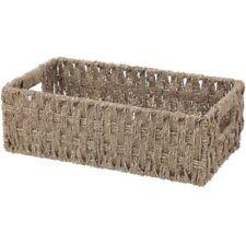 Arpan Resina tejida en el pecho de almacenamiento de cesta tronco Cesto Blanco Grande