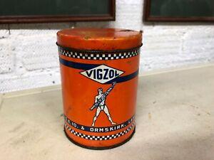 VINTAGE GREASE TIN VIGZOL garage petrol station display tin AUTOMOBILIA