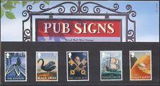 GB 2003 Steam Engine/Trains/Swan/Sailing Ship/Birds/Pub Signs 5v P Pack (n42018)