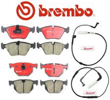 Front Brake Pads Rear Brake Pads Ceramic Brembo + Sensor BMW 525i 528i 530i 535i