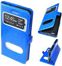 HOUSSE COQUE ETUI Cuir Pu cover Bleu pour LG K5