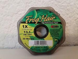 "Frog Hair High Performance Tippet Material 1X .010"" 30 Meter Spool Fishing 13 lb"