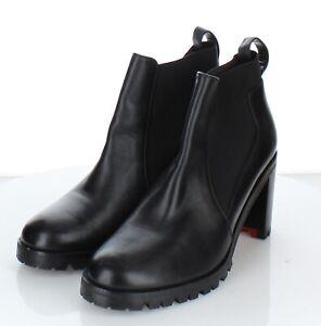 E2 NEW 1,095 Women's Sz 39.5 M Christian Louboutin Marchacroche Chelsea Boots