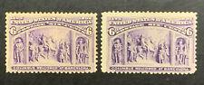 TDStamps: US Stamps Scott#235 (2) 6c Columbians Unused NG