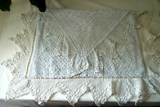 More details for very pretty antique lace nightdress case - cotton lined