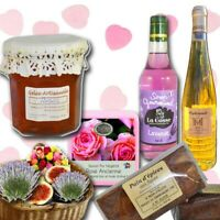 gourmet basket: fruits and flowers