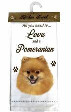 Pomeranian Dog Cotton Kitchen Dish Towel