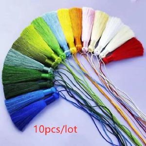 10pcs 8cm Colorful Silk Tassel Decorative Pendant Charm for DIY Jewelry Making