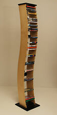 colonna porta dvd in multistrato di betulla e laccato nero