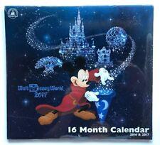 Disney Parks Mickey Mouse Walt Disney World 16 Month 2017 Calendar New! Sealed!