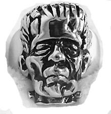 FRANKENSTEIN MONSTER STAINLESS STEEL RING size 10 silver metal S-520 HALLOWEEN