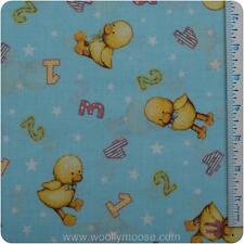 HALF YARD DAISY KINGDOM Blue Jean Teddy Bear 123 Out of Print Chicks Blue Fabric