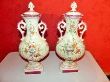 Paire de vases couverts à la Manufacture la couleuvre a Limoges début 20ème