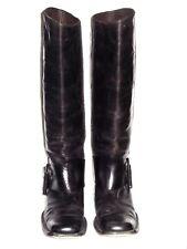 Bottega Veneta Knee High Leather Black Buckle Boot 39 1/2 39.5 9.5