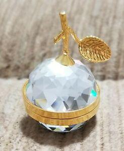 SWAROVSKI CRYSTAL  APPLE PHOTO FRAME GOLD  NEW