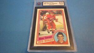 1984-85 Steve Yzerman Topps 49 Rookie ksa 8.5