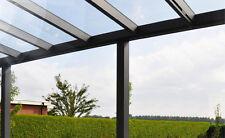Terrassenüberdachung mit Echtglas, VSG 400x300cm.     Andere Größen lieferbar