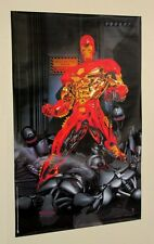 Vintage 1995 Marvel Comics 34 by 22 Invincible Iron Man poster: IronMan/Avengers