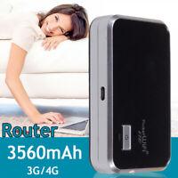 Portable 4G Wifi Wireless Router Mobile Hotspot Modem Sim Card Unlocked 3560mAh