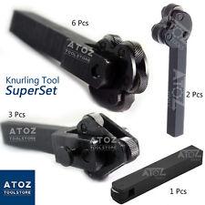 SuperSet of 4 Knurling Tool Holders (1Pc + 2Pcs + 3Pcs + 6Pcs) Knurling  Atoz
