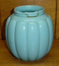 Antique Blue Opaline Glass Biscuit Jar - No Lid - Repaired - 5 5/8""