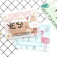 A4 Flamingo File Bag Document Bag School Office Supplies Mesh File Folder Bags