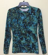 Champion Compression Top M Blue Black Power Core Fitted Moisture Wicking Womens