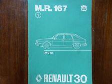 RENAULT 30 R30 MANUEL REPARATION MECANIQUE MR167 PIECE REFERENCE DESSIN 1975