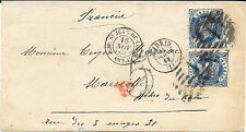 España. Madrid a Marsella. Sobre con 2 sellos 12 ctos. Edifil 59 (2)