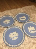 WEDGWOOD Christmas plates 1979-1981 Collectors Items Immaculate Condition LOT