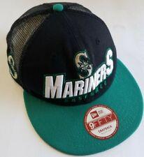 Seattle Mariners Baseball MLB New Era 9Fifty Snapback Trucker Mesh Hat Size M/L