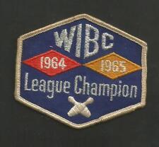 """WIBC LEAGUE CHAMPION 1964 1965   VINTAGE PATCH 3 1/4"""""""
