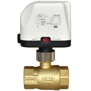 """Motorized Motor Operated Ball Valve with Electric Drive 1/2"""" / 3/4"""" MOV actuator"""