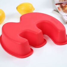 Large Silicone Number 3 Cake mold Pan Baking Tin Birthday Anniversary 3rd
