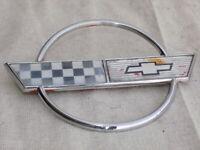 Gas Fuel Door Lid Emblem OEM 1985 C4 Corvette