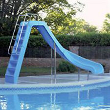 InterFab Wild Ride WRS-CRB-SS Inground Swimming Pool Slide - Right Curve - Blue