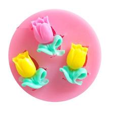 Mini Rose Silicone Mold - 3 Roses