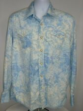 8ae3e6d3b0d Tommy Bahama Denim Men s Large Shirt Long Sleeve Floral Geo Snap Sailfish -  M2