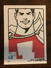 MATT WAGNER original CAPTAIN MARVEL (SHAZAM) Hero Initiative sketchcard