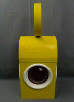 Vintage Chalwyn BS3143 Kerosene Railroad Lantern Red Lamp Yellow Made in England