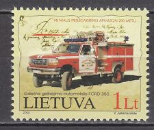 LITHUANIA  2002 **MNH SC# 723 Vilnius Fire and Rescue Brigade