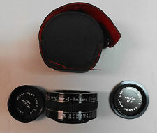 2X Auto Prinz Var-I-Rim Lens Extender for Pentax. With Case & Steel Lens Covers