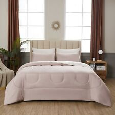 New listing 6 Piece Solid Bed In A Bag Bedding Comforter Set, Blush, Twin 2 Day Delivery