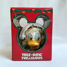 Vintage Enesco Mickey Unlimited Donald Duck Christmas Ornament Wears Santa Hat