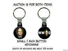 What Would Dwight Schrute The Office Rainn Wilson set of 2 Key Chains