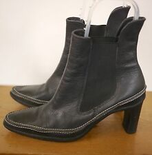 Art Effects Parma Black Leather High Heel Bootie Ankle Boots Brazil 8.5 39