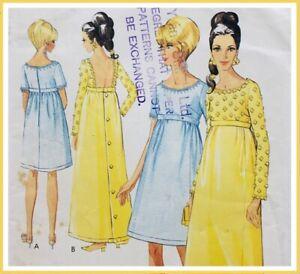 "Vintage 1960's ELEGANT EMPIRE DRESS Sewing Pattern BUST 32"" (ST2039)"